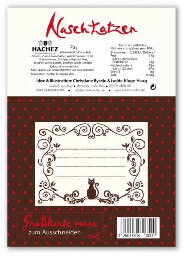 Glückwunschkarte Gute Besserung mit 70gr Vollmilchschokolade Kunstgrußkarte