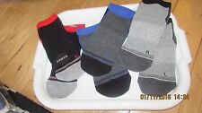 teen's black trainer socks, short ankle socks, shoe size UK 2.5 - 6, unisex