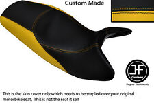 YELLOW & BLACK VINYL CUSTOM FITS BMW K1200RS K 1200 RS DUAL SEAT COVER ONLY