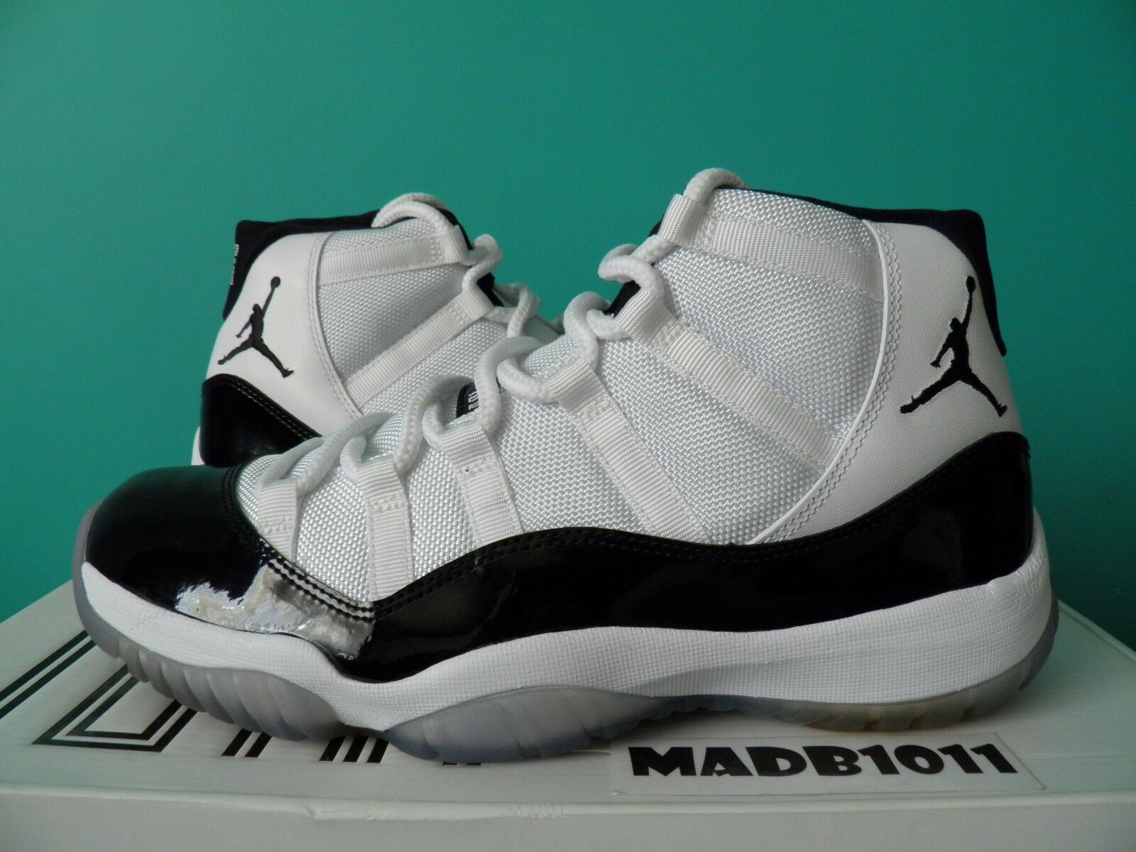 buy popular bd1b3 974c9 NEW AIR JORDAN JORDAN JORDAN 11 XI CONCORD 2011 RETRO US 8.5 WHITE BLACK  RED 378037