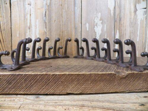 Lot 12 Antique-Style ACORN Rustic School COAT HOOK Cast Iron Wall Hardware