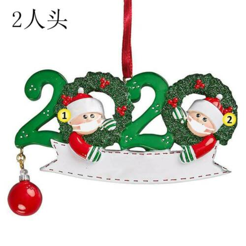 2020 New Year Stayed at Home Family Of 4 Personalized Tree Christmas Ornament-UK