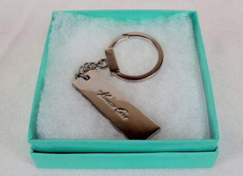 Stainless Steel Key Ring ~Kenneth Cole Designer Enamel Signed NEW #5230180