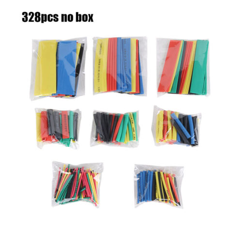 Tool Polyolefin Wire Wrap Kit Heat Shrink Tubing Cable Sleeve Assorted 2:1