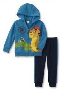 Lion-Guard-KION-Toddler-Boy-039-s-5T-NeW-Zip-up-Hoodie-Jacket-and-Sweatpants-Disney