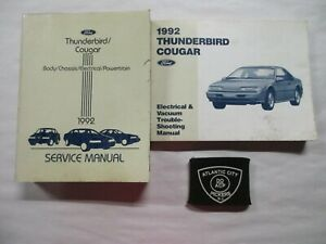 1992 Ford Thunderbird Cougar Service Shop Manual Electrical Wiring Diagrams Ebay