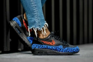 Nike Air Max 1 Premium W 'Animal Pack' Black & Habanero Red