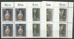 Federal-Frg-Minr-1295-1298-Mint-Block-of-Four-Corner-2-Unfolded