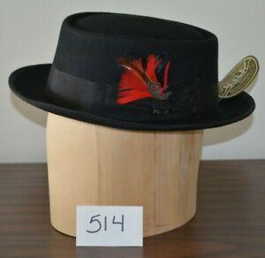 New Dorfman Pacific Scala Classico Pork Pie Hat Rust Wool Felt Large ... 48985fb3673
