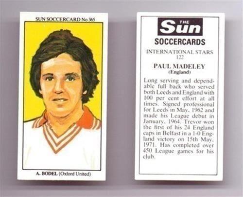 Sun Soccercards 1978 1979 Seul joueur de football cartes-Divers 701-800