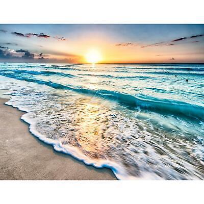 Fototapete Strand Sonnenuntergang Tapete Wandbilder XXL Vlies Wandtapete 9467aP
