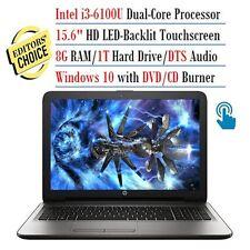 """New HP 15-ay091ms 15.6""""HD TouchScreen i3-6100U 2.3GHz 8GBDDR4 1TB HDMI DVDRW 1Yr"""