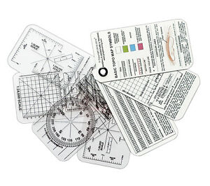 Esee Compass Cards Land Navigation with UTM Grid Reference Overlay Map Tool