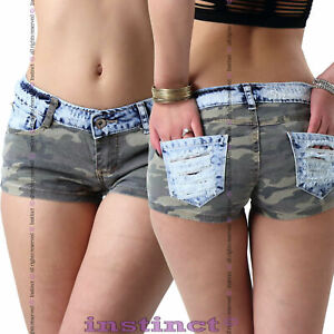 Pantaloncini-jeans-donna-shorts-strappi-mini-shorts-hot-pant-sexy-nuovi-IS5059