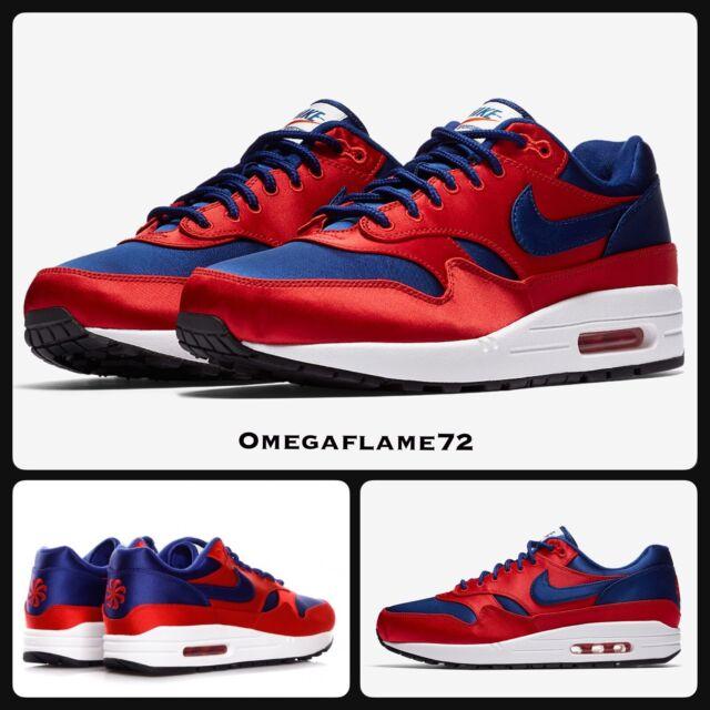Nike Air Max 1 Satin Pin Wheel Ao1021 600 UK 9 EU 44 US 10 University Red