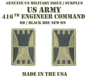 LOT-OF-2-US-ARMY-416TH-ENGINEER-THEATER-COMMAND-PATCH-UNIFORM-SHOULDER-INSIGNIA