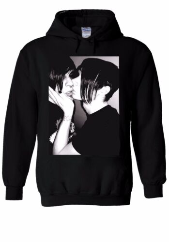 Emo KISSING Boy /& Girl emotivo Felpa con Cappuccio Felpa Maglione uomini donne unisex 1025