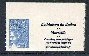 Stamp / Timbre Personnalise Marianne France N° 3729b ** Marseille / Cote 12 € Complet Dans Les SpéCifications