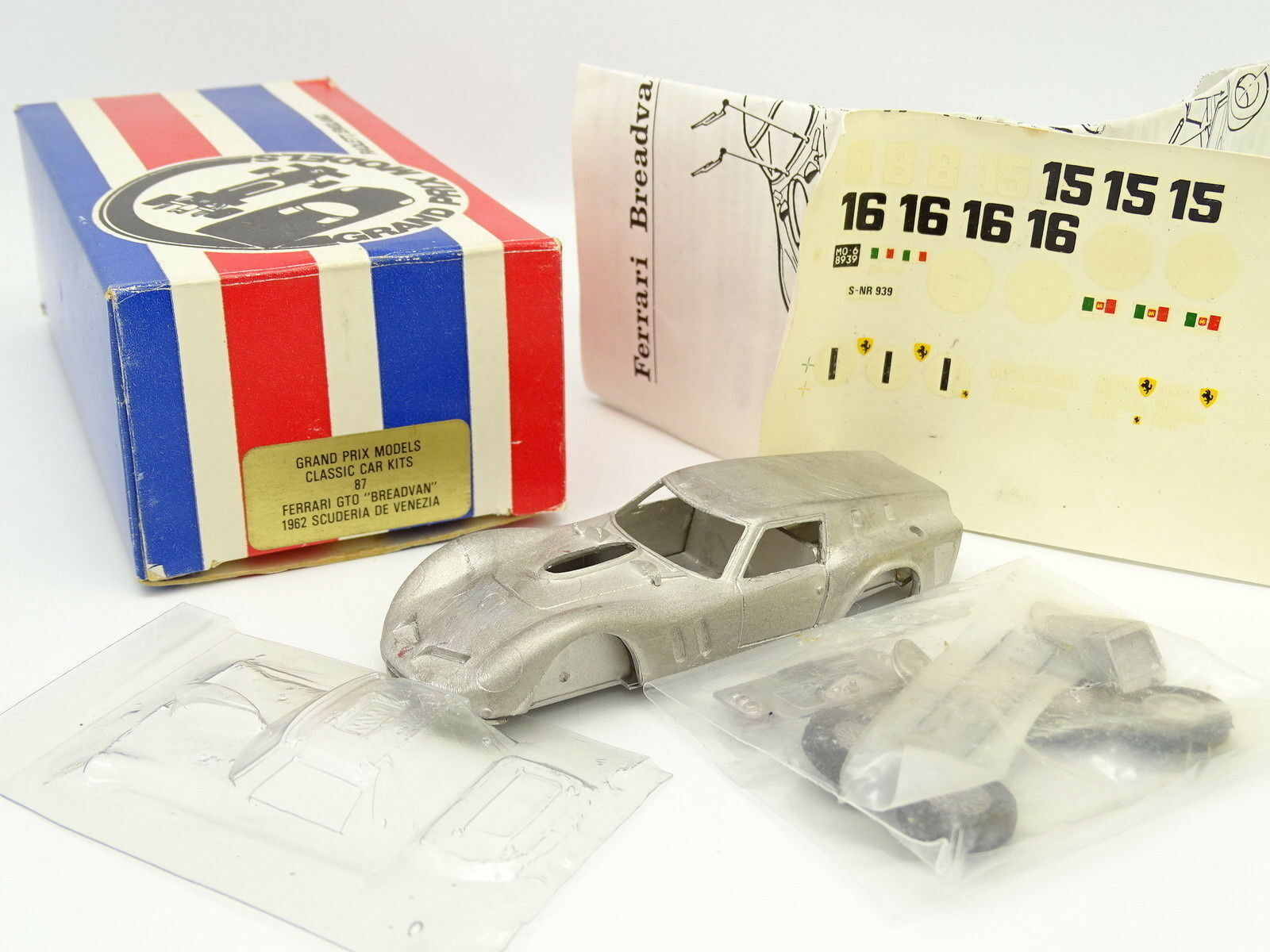 Grand Prix Models Kit à Monter 1/43 - Ferrari 250 GTO Breadvan Le Mans 2018 N°16