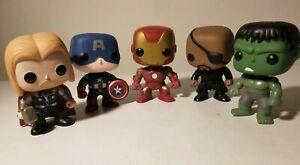 Funko-Pop-AVENGERS-Lot-Nick-Fury-Thor-Hulk-Iron-Man-Captain-America