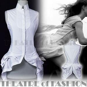 ALL-SAINTS-SHIRT-TOP-12-40-10-8-DRESS-WHITE-VINTAGE-VICTORIAN-BUSTLE-KATERINA