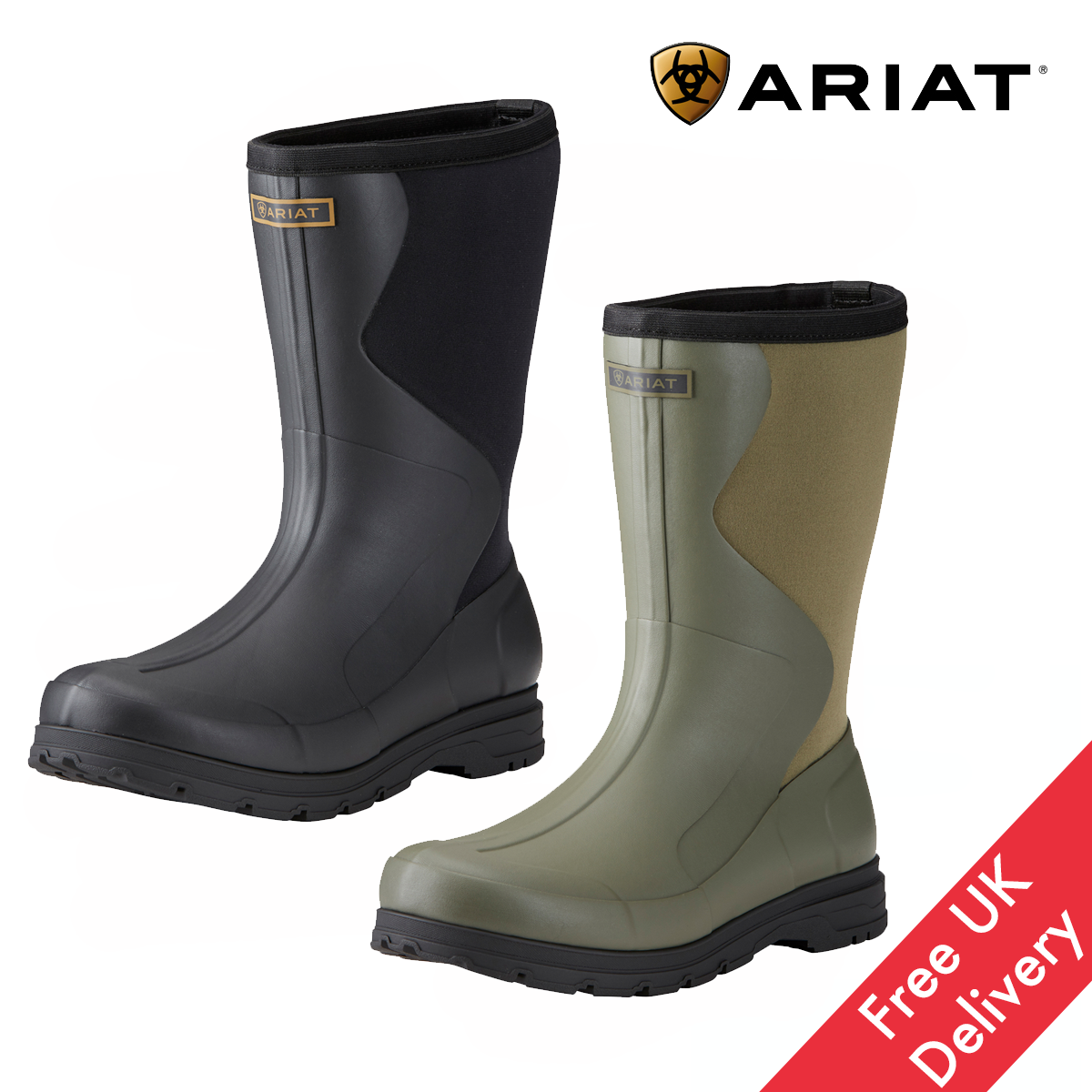 Ariat Springfield Mens Rubber Boot FREE UK Shipping