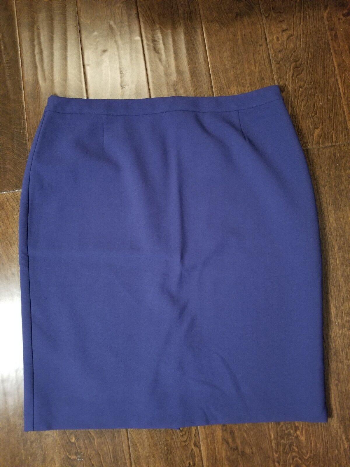 New Women's HUGO BOSS bluee Valeti Pencil Skirt size 14