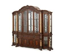 Michael Amini Victoria Palace China Cabinet with Side Piers by AICO