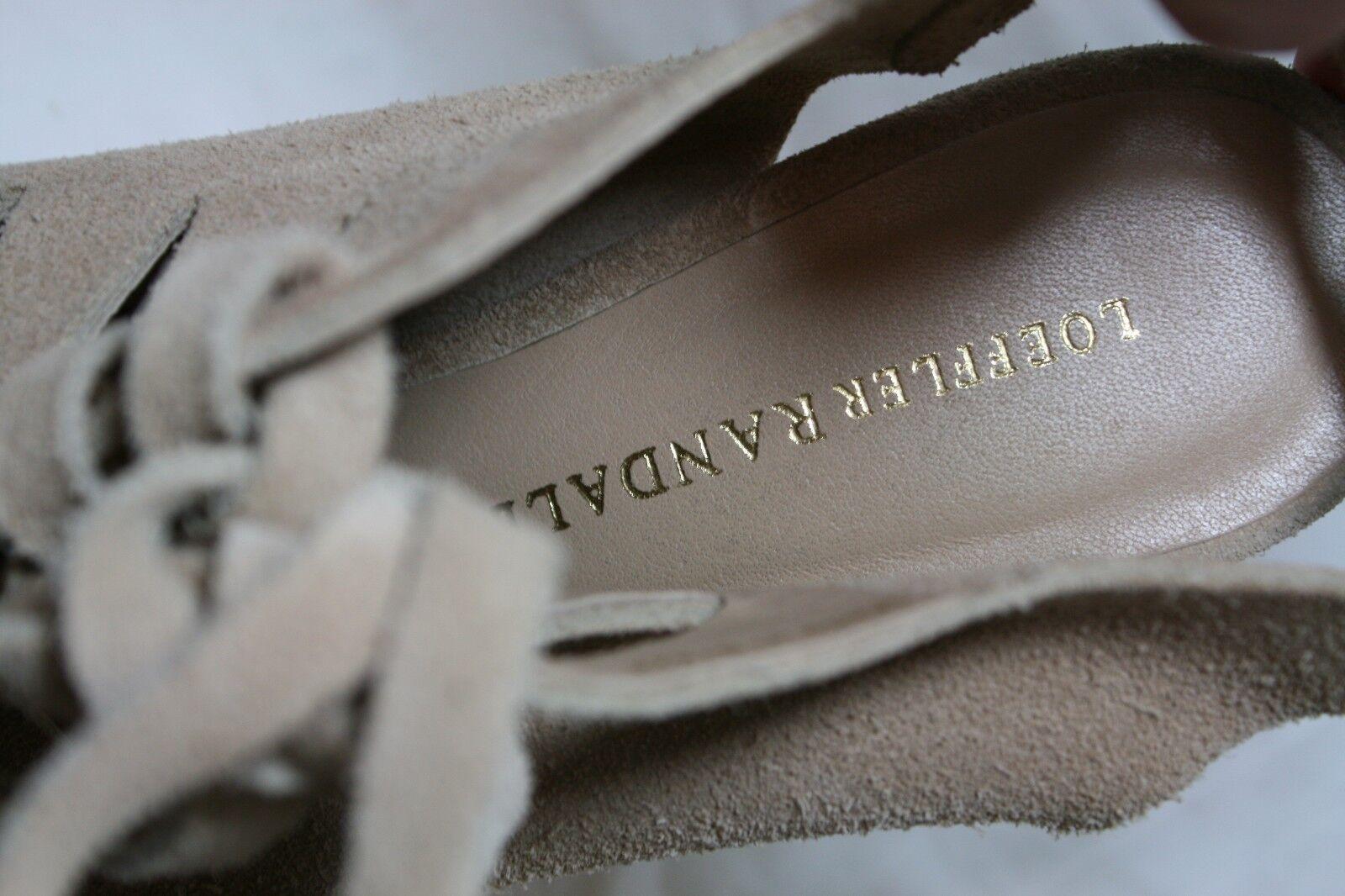 LOEFFLER RANDALL schuhe VIVIAN LACE UP NUDE WEDGE StiefelIES NUDE UP SUEDE 8  495 SLINGBACK 9f8641