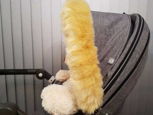 SALE Pram Fur Hood Furs Trim Baby Pram Buggy Pushchair Parts Universal Fit