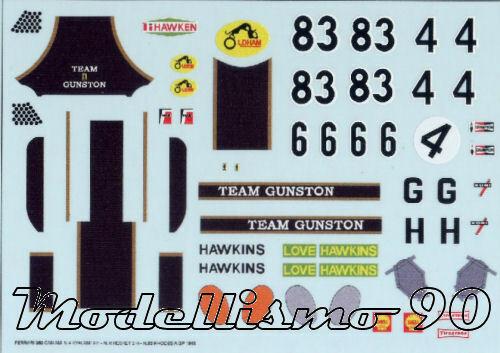 Decal sheet 1//43 Ferrari 350 P4 Team Gunston 1968 Paul Hawkins NEW