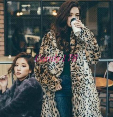 parka manteau revers col de 6xl taille longue femmes fourrure pour plus léopard Nouveau la outwear s mi vf1qBAf