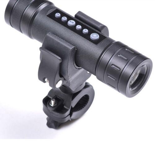 For Sports 360° Universal Bicycle LED Torch Lamp Flashlight Mount Bracket Holder