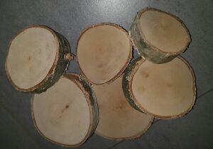 6 st ck birkenscheiben holz holzscheibe tischdeko natur for Holzscheibe rund
