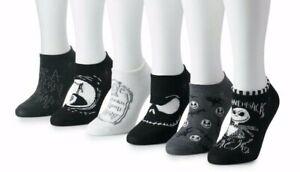 Big Girls//Women/'s NEW Tim Burton/'s The Nightmare Before Christmas 6 Pk Socks