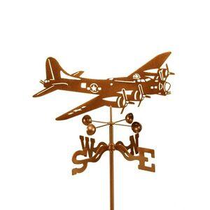 Airplane-B-17-Bomber-Weathervane-Flying-Fortress-Vane-Plane-w-Choice-of-Mount