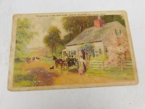 Vintage Postcard - Advertising. New Home Sewing Machine 1907-1915