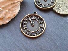 Antique Bronze Clock Watch Charms 5pcs D2 Steampunk Vintage Pendants Kitsch