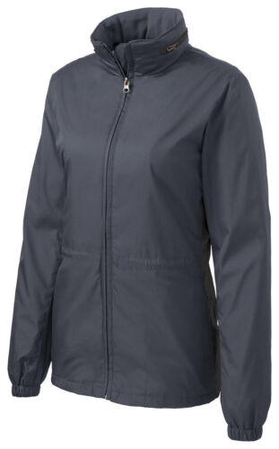 WIND JACKET LADIES WATER RESISTANT LINED POCKETS HOOD S-4XL RESISTS RAIN