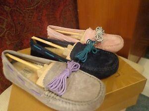 UGG-Australia-Women-039-s-Meena-Driving-Moccasins-Slippers-Purple-Pink-Blue