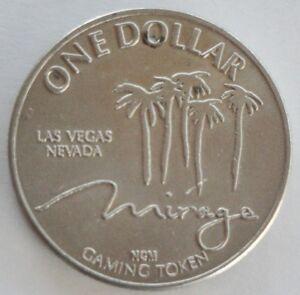 VINTAGE MIRAGE LAS VEGAS NEVADA ONE $1.00 DOLLAR GAMING TOKEN COIN
