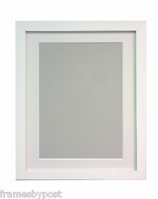 Black or White Large Photo Picture Frames with white black or Ivory Mounts H7