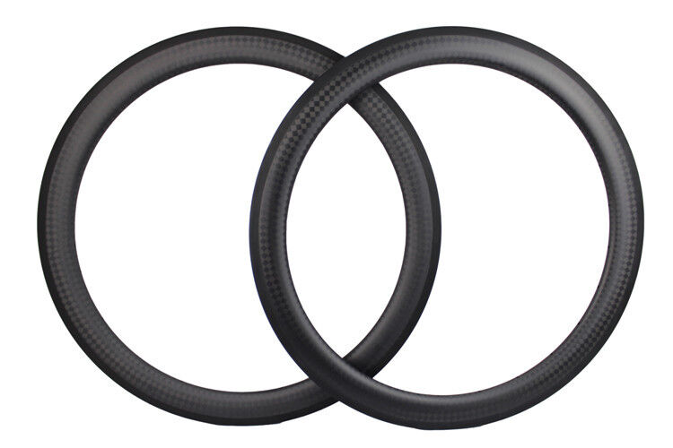 1 pair 12K matte 50mm  Carbon Rim Clincher 700C Road Bicycle Rim 25mm width  selling well all over the world