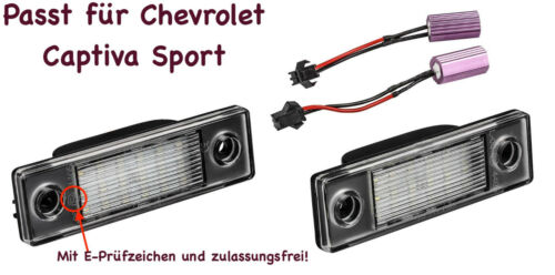 2x TOP LED SMD Kennzeichenbeleuchtung Chevrolet Captiva Sport //2201//