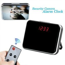 5MP HD Cam Alarm Table Clock Spy Hidden DVR Camera Camcorder w/ Motion Detection