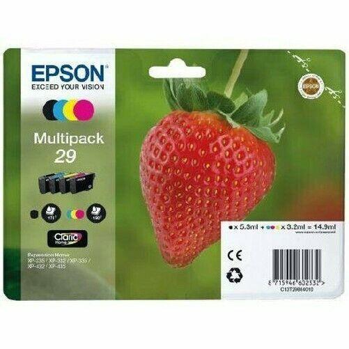 EPSON Série Fraise 29 Multipack 4 Cartouches D'Encre Original