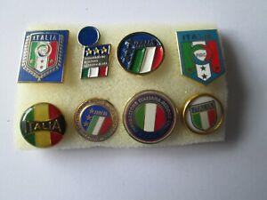 o3-lotto-8-Federazione-Italiana-Giuoco-Calcio-federation-association-pins-lot