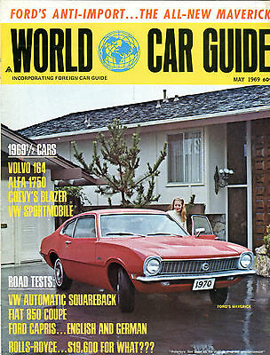 world car guide magazine may 1969 ford s maverick ex 011116jhe2 ebay rh ebay com Ford Maverick Grabber ford maverick price guide