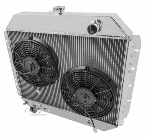 """12/"""" Fans V8 Eng 1966-79 Ford F-Series and 1978-79 Bronco CC433 WR Radiator"""