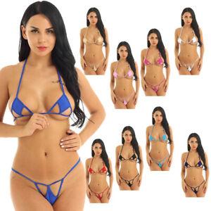 Women Japanese Style Micro Bikini Set Beach Swimwear Swimsuit Nightwear Briefs